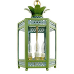Load image into Gallery viewer, The Sarafina Lantern in Custom F&B Dix Blue & Yeabridge Green Trim & Leaves