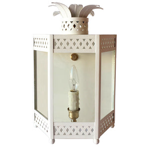 The Sarafina Lantern Sconce in Standard Ivory