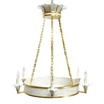 Load image into Gallery viewer, The Sarafina Chandelier in Standard Ivory w/ Gold Gilt Trim