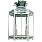 Load image into Gallery viewer, The Sarafina Lantern in Custom Colors F&B Skylight w/  F&B Inchyra Blue