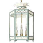 Load image into Gallery viewer, The Sarafina Lantern in Ivory w/ Custom F&B Dix Blue Trim