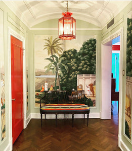 The Large Sarafina Lantern in a Foyer / Interior Design by Jenny Brown