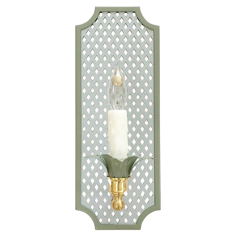 The Sarina Sconce in a Custom Color Combination