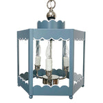 Load image into Gallery viewer, The Scalloped Lantern in a Custom Color w/ Nickel Hardware and White Trim
