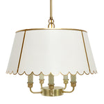 Load image into Gallery viewer, The Scalloped Maisie in Standard Ivory w/ Gold Gilt Trim & Brass Hardware