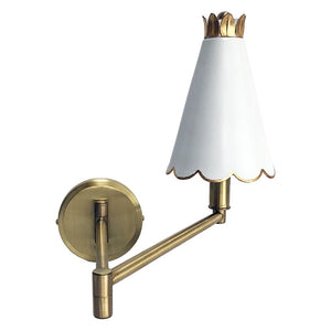 SCALLOPED SWING ARM SCONCE