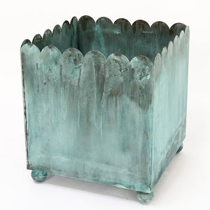 THE VERDIGRIS SCALLOPED PLANTER