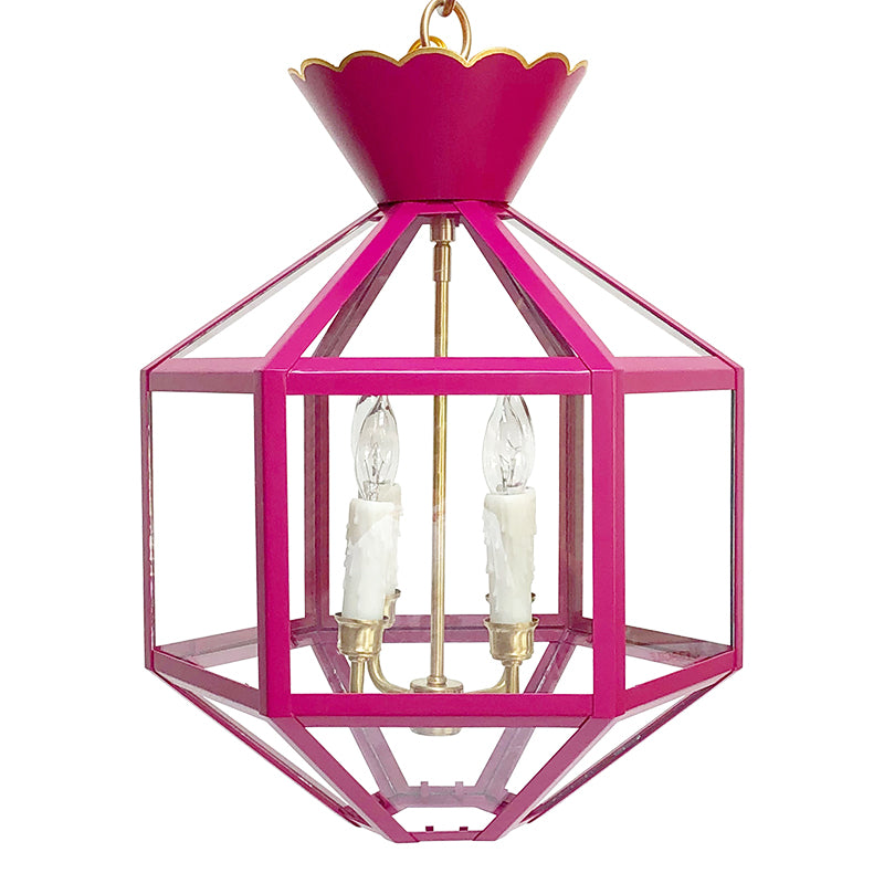 The Vivienne Lantern in a Custom Hot Pink