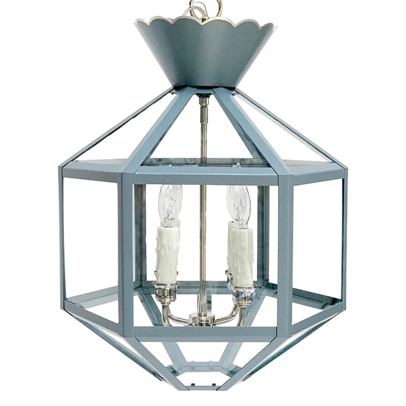 Vivienne Lantern in BM AF 555 Montpelier w/ Nickel Hardware and Silver Trim