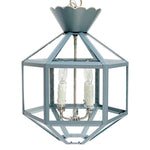 Load image into Gallery viewer, Vivienne Lantern in BM AF 555 Montpelier w/ Nickel Hardware and Silver Trim