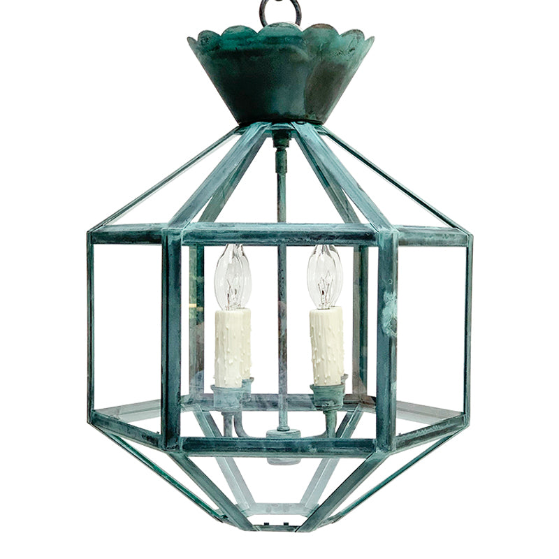 The Vivienne Lantern in Verdigris