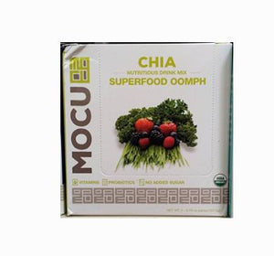 Mocu Nutritious Drink Mix, Chia, Superfood Oomph - 5 pack, 0.76 oz packs