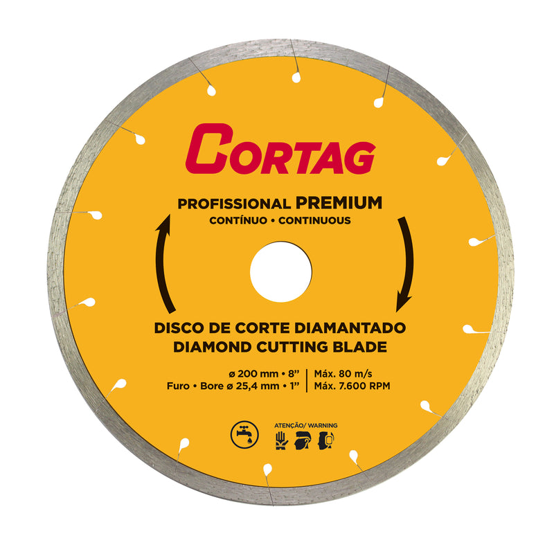 Diamond Cutting Blade - Professional Premium 8""