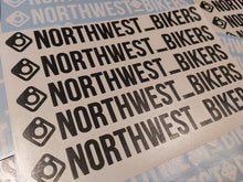 Load image into Gallery viewer, Transparent North West Bikers Insta Sticker, Black or White