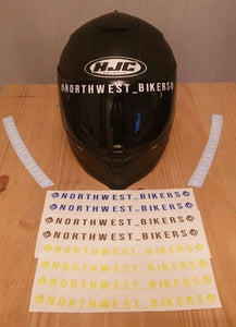 North West Bikers Visor Decal's