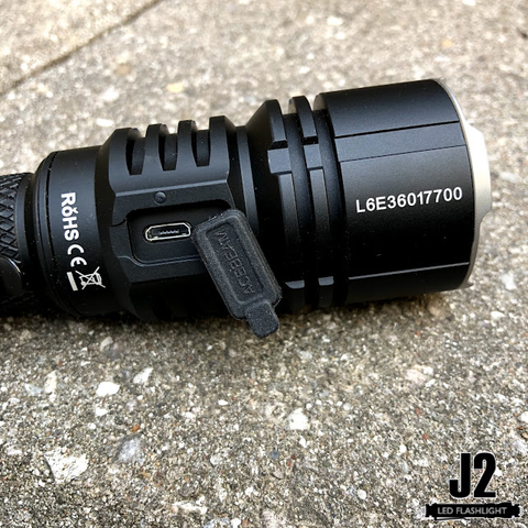 Acebeam L16 led flashlights's USB port to charging