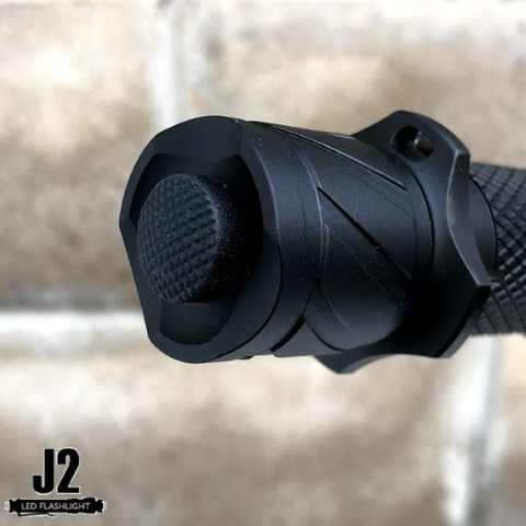 Tactical tail cap switch for instant turbo mode access for Acebeam L16 led flashlight.