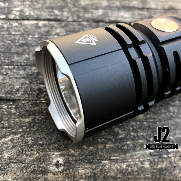 Striking bezel for the Acebeam L16 LED flashlight.