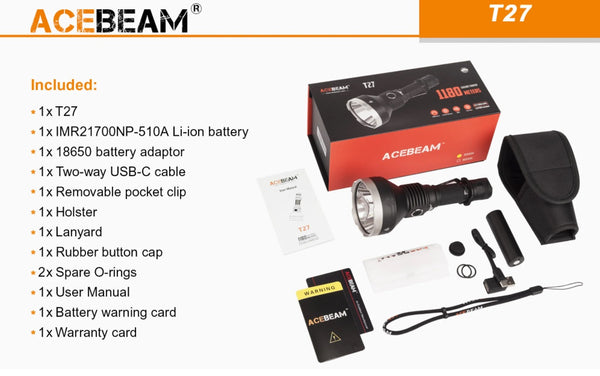 Accebeam T27 Searchlight with accessories