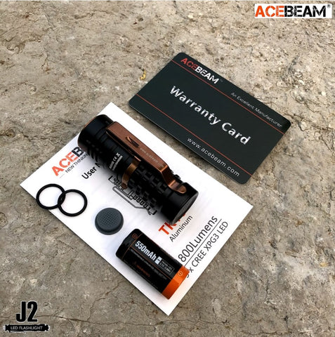 Acebeam TK16 AL in aluminum (black)  with 3 * CREE XPG 3 1800 lumens