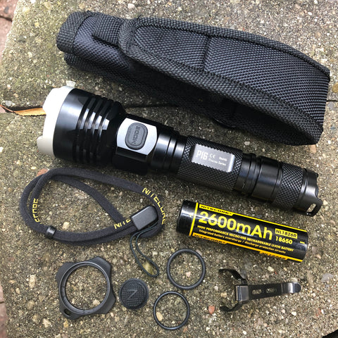 Full package for Nitecore P16 Ultra High Intensity Tactial Flashlight