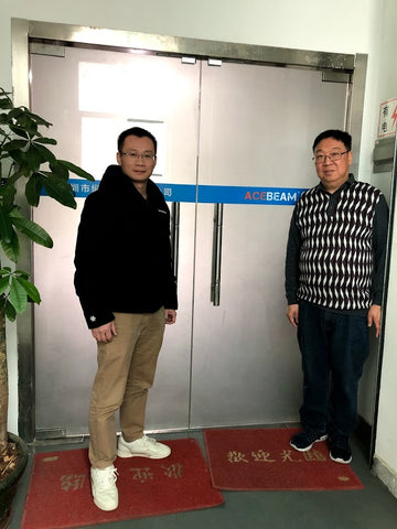 j2ledflashlights visits Acebeam head office in China.