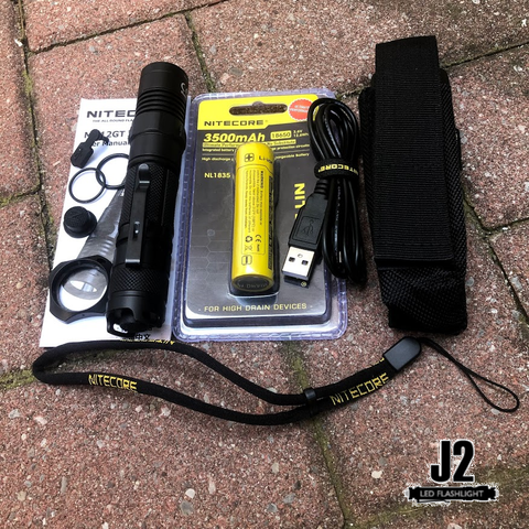 Nitecore MH12GT includes multiple accessories for adjustable and optimal use
