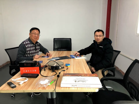 Meeting with Acebeam's Big Boss at Acebeam Head Office in China.