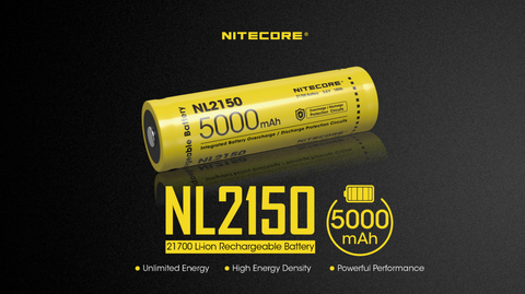 Nitecore NL2150 21700 Li-ion Rechargeable Battery