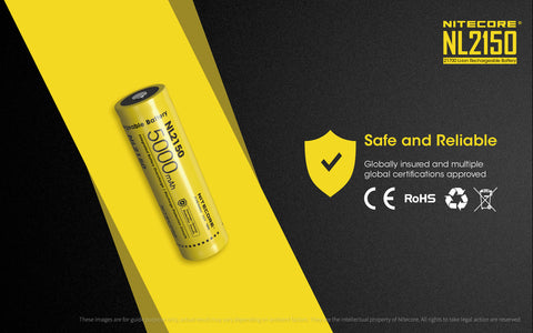 Nitecore NL2150 safety and reliable