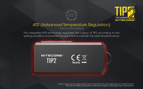 Nitecore TIP2 has ATR - Advanced Temperature Regulations.