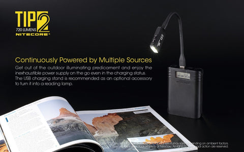 Nitecore TIP2 has continuously powered by multiple sources.