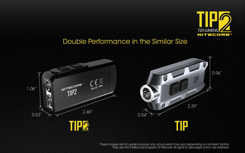 Nitecore TIP2 has double performance in the silmilar size.