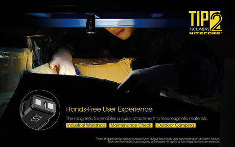 Nitecore TIP2 has hands free user experience.
