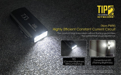 Nitecore TIP2 has highly efficient constant current.