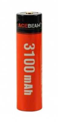 Acebeam H60 headlamp includes 1 x Acebeam IMR 18650 3100 mAh battery.