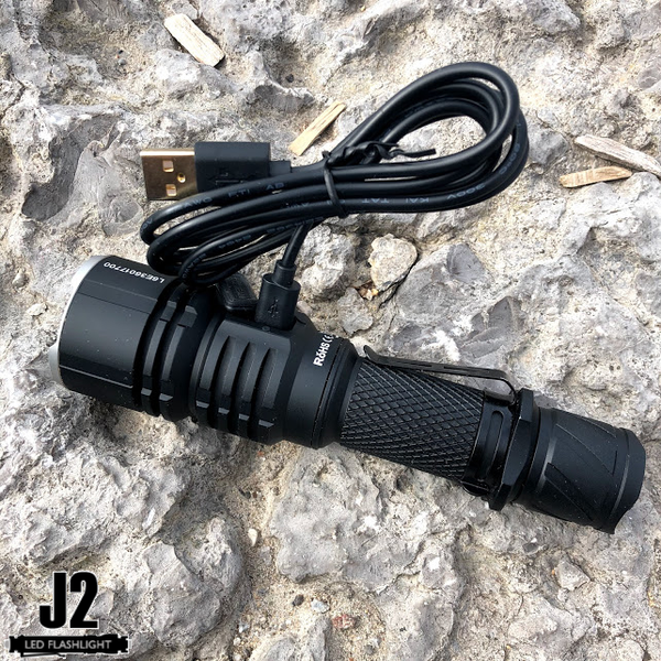Includes a  USB cable with the Acebeam L16 rechargeable LED flashlight
