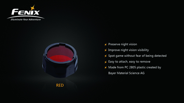 Fenix Red Filter Adapter for PD, LD Series (AD301-R)