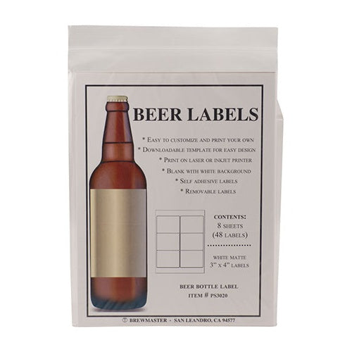 Bottle Labels - Beer - Pack of 48