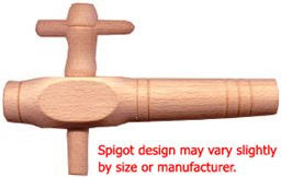 "5 1/2"" Hungarian Oak Barrel Spigot"