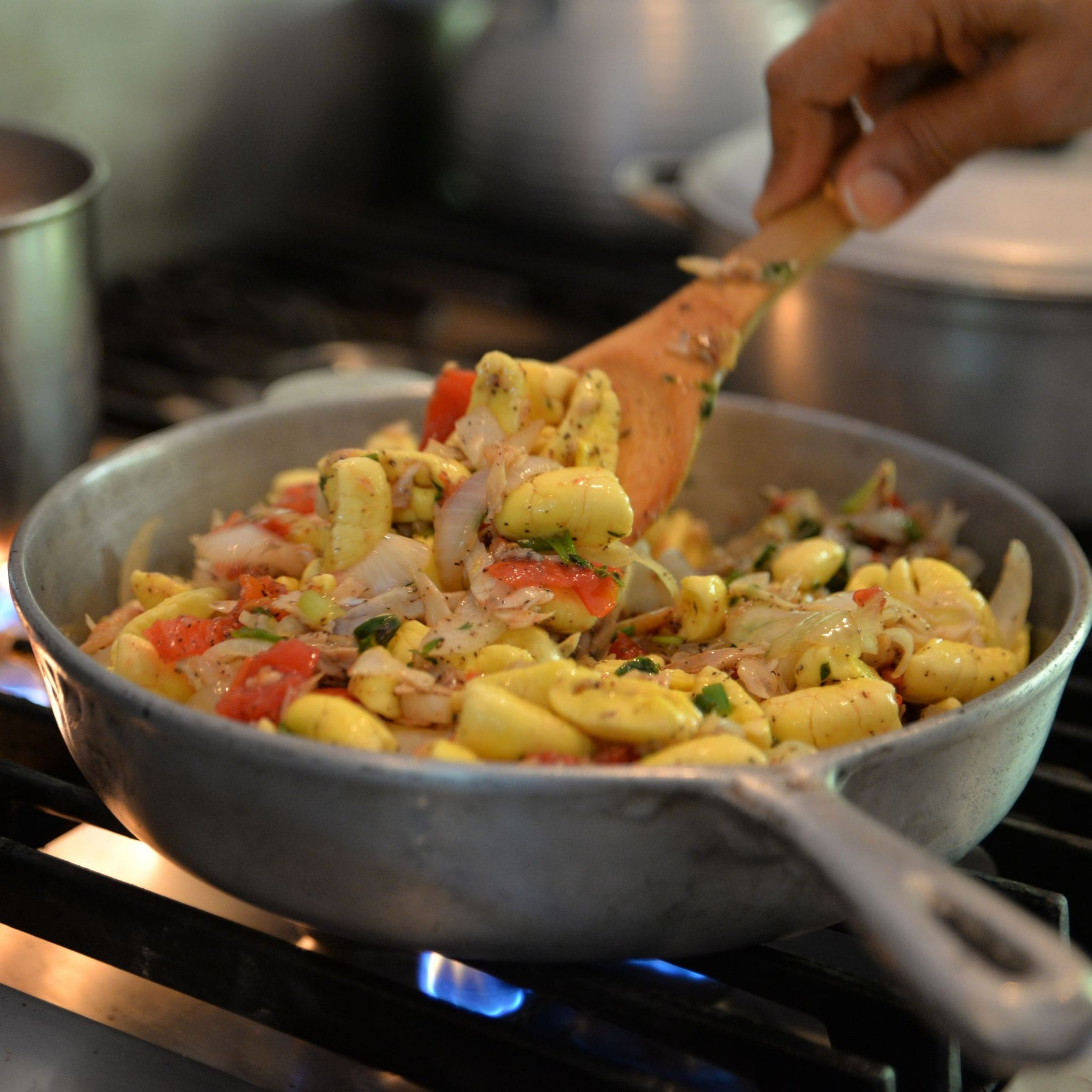 ackee and saltfish meal - caribbean meal