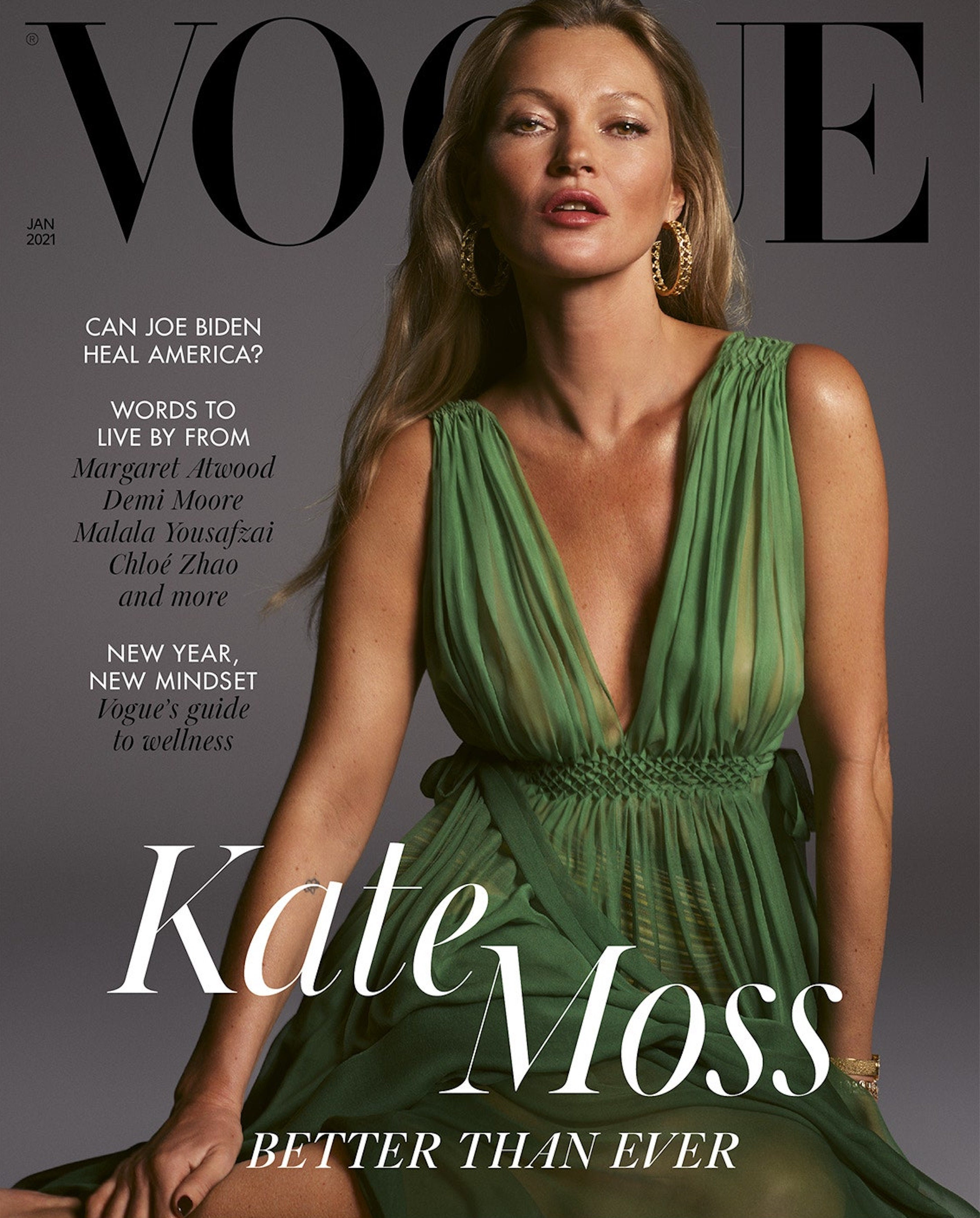 vogue january issue, kate moss second cover