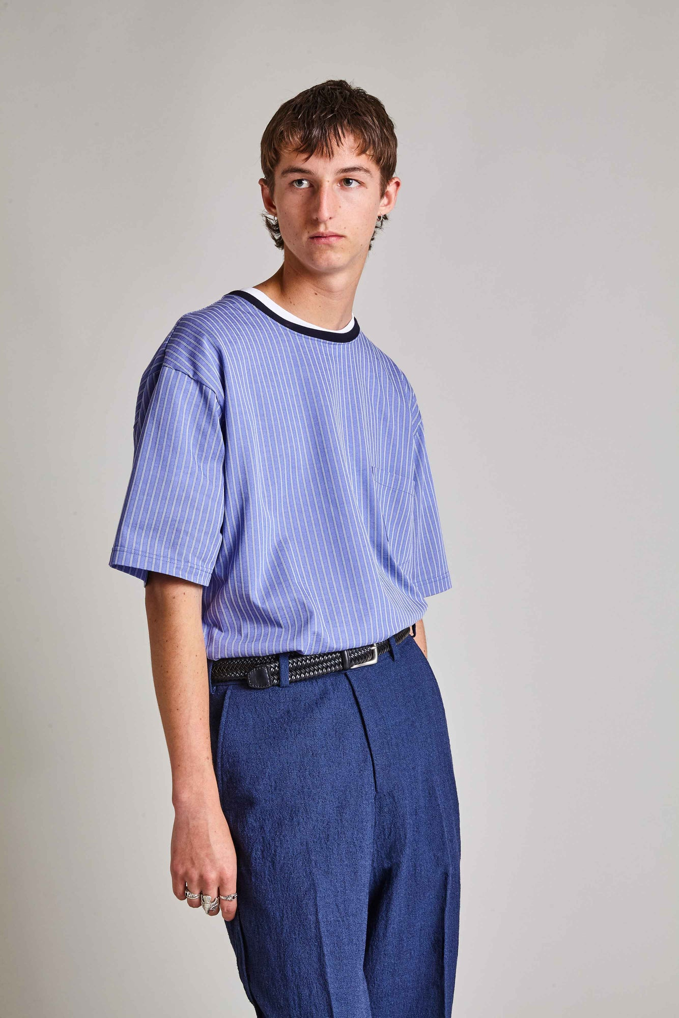 Rego - Cotton Contrast Hem T-shirt