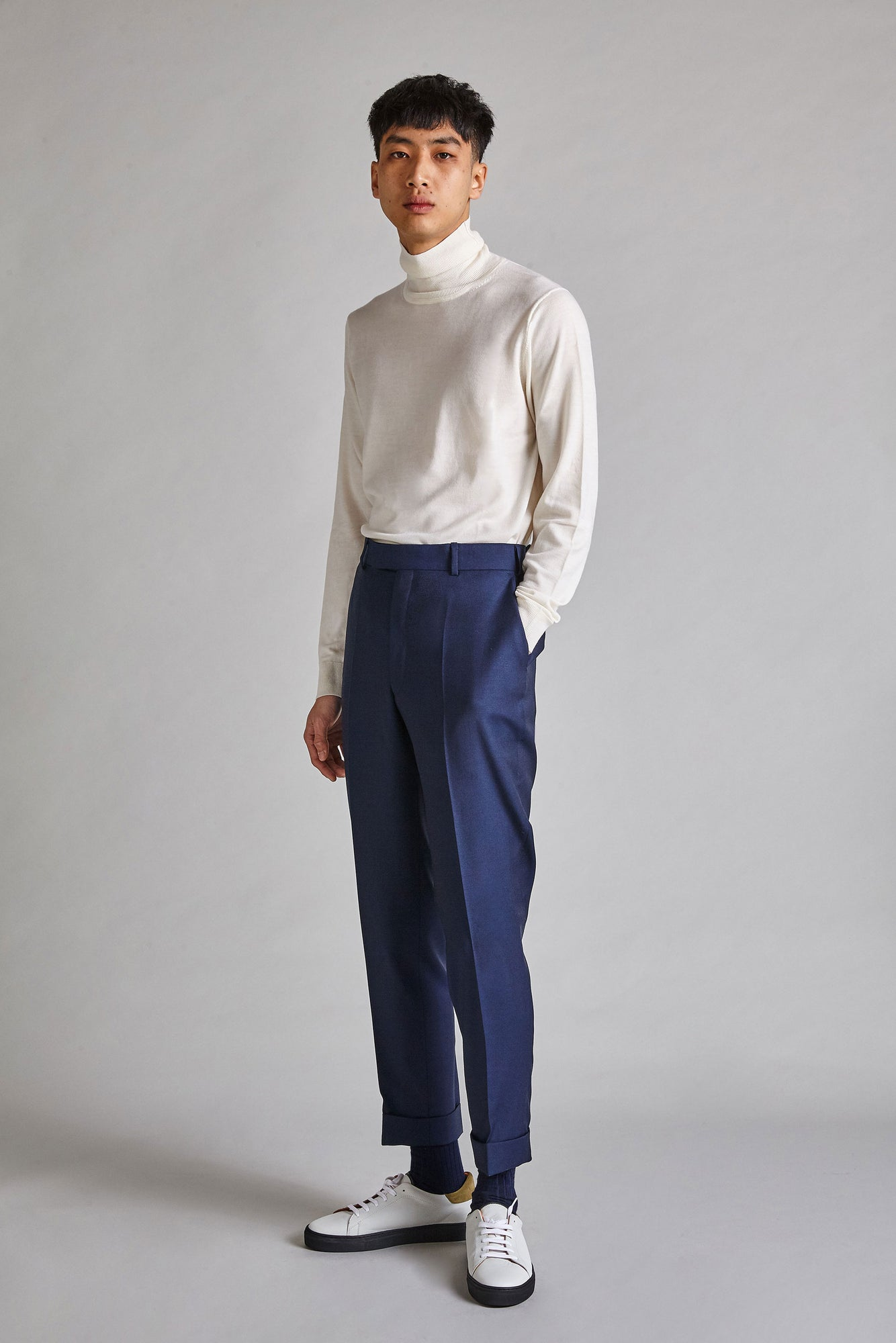 Fenton - Wool / Mohair Relaxed Trousers