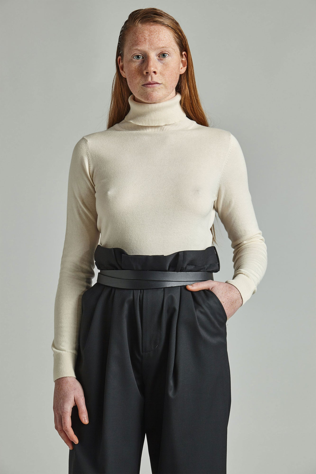 Grace - Ecru Roll Neck