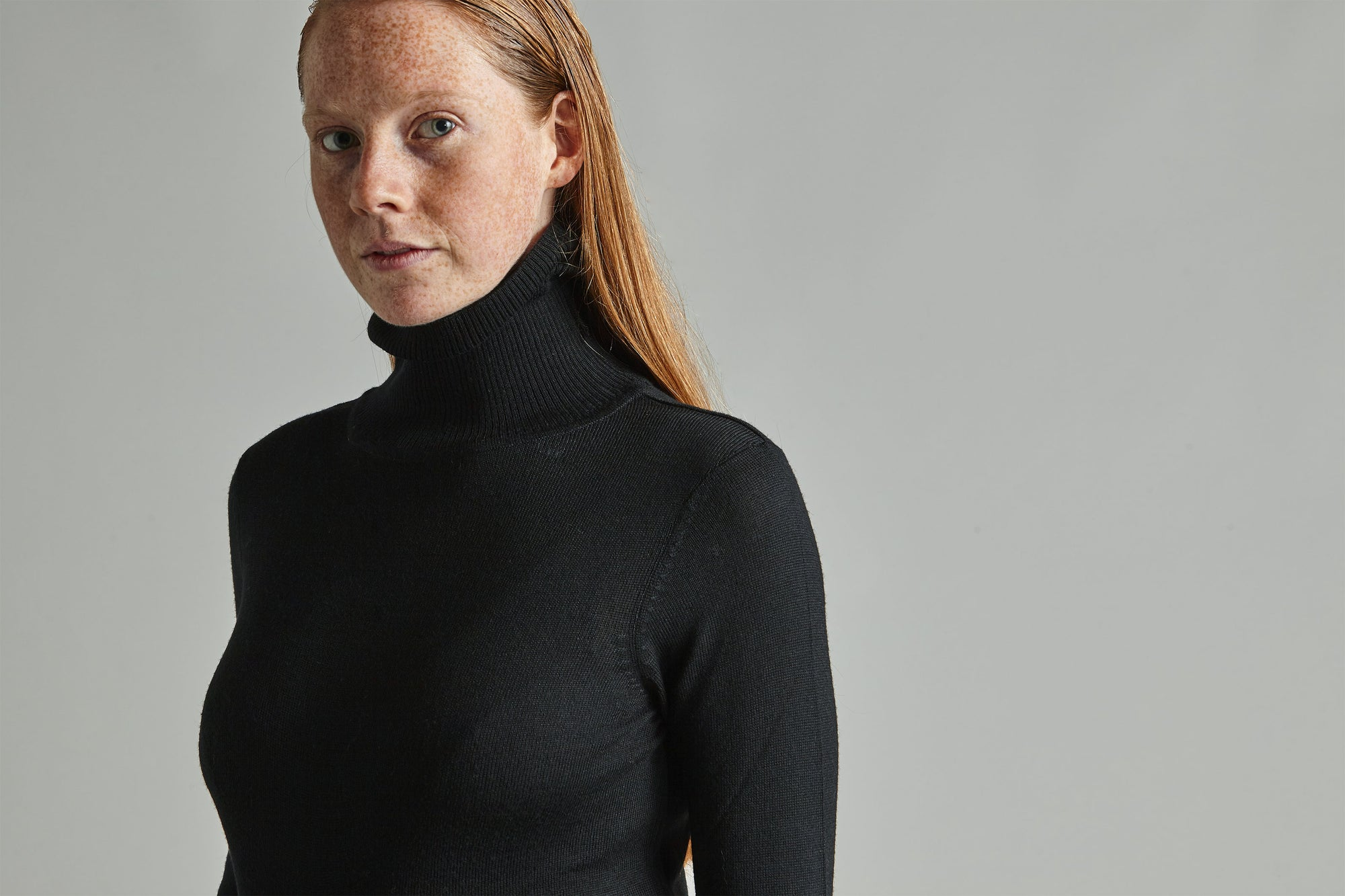 Grace - Black Roll Neck