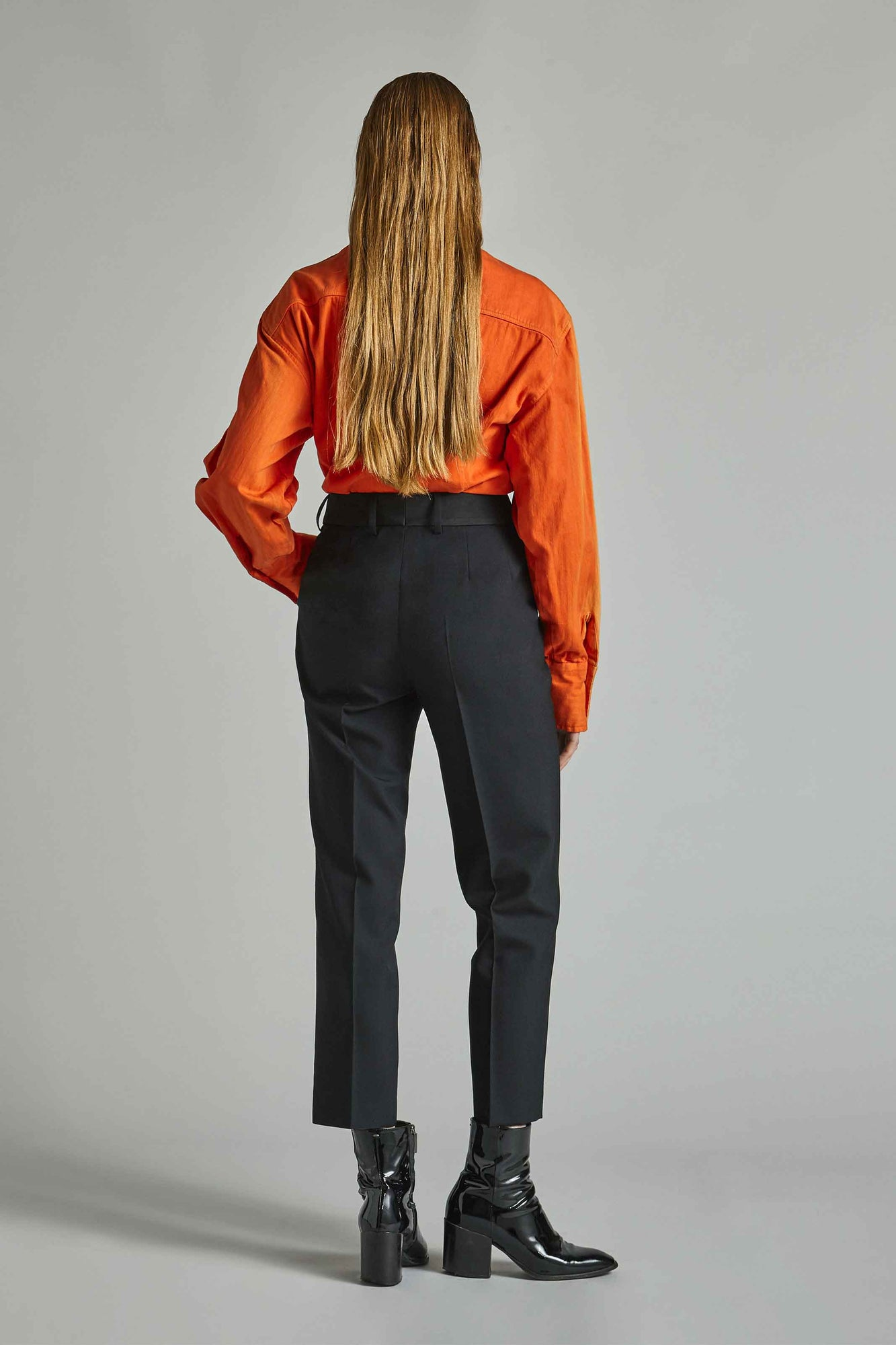 Niamh - Wool Straight Leg Trousers