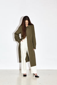 Postcard - Olive Elongated Coat