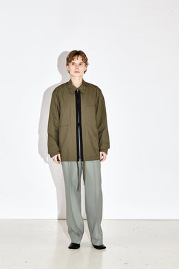 Faris - Olive Zip Through Jacket