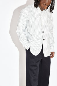 Emeric - White Stripe Archive Shirt Jacket